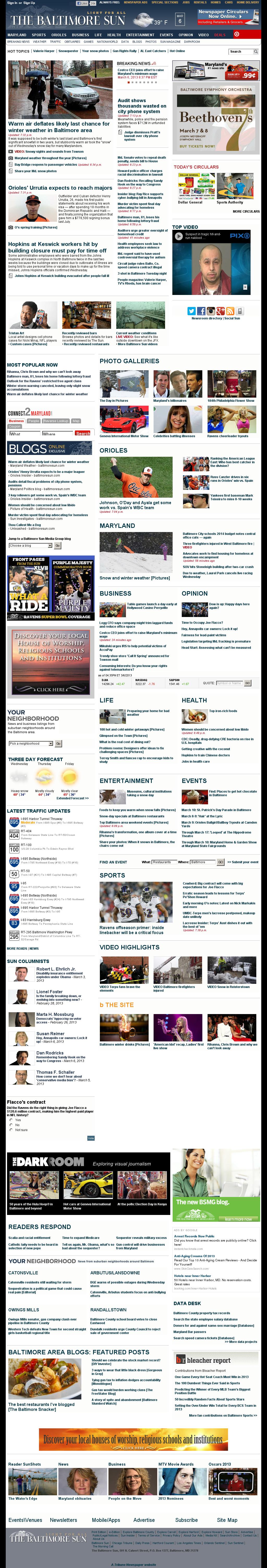 The Baltimore Sun at Thursday March 7, 2013, 2:01 a.m. UTC