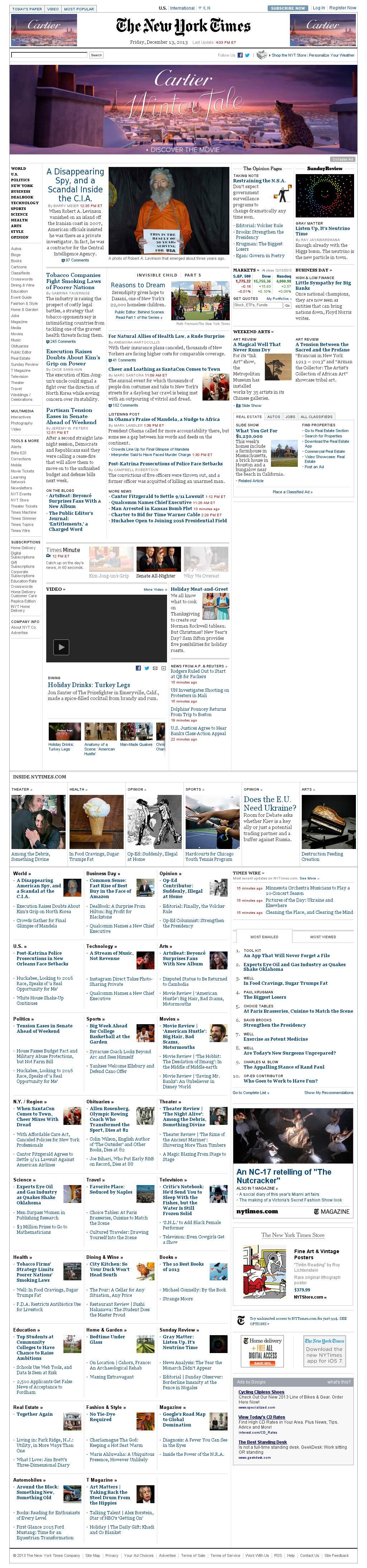 The New York Times at Friday Dec. 13, 2013, 9:11 p.m. UTC