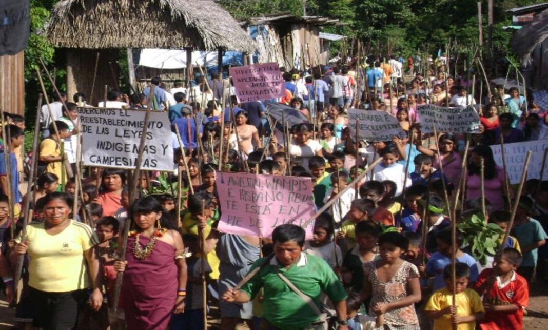 Fuente: Aidesep. Ciudadanos indígenas en protesta.