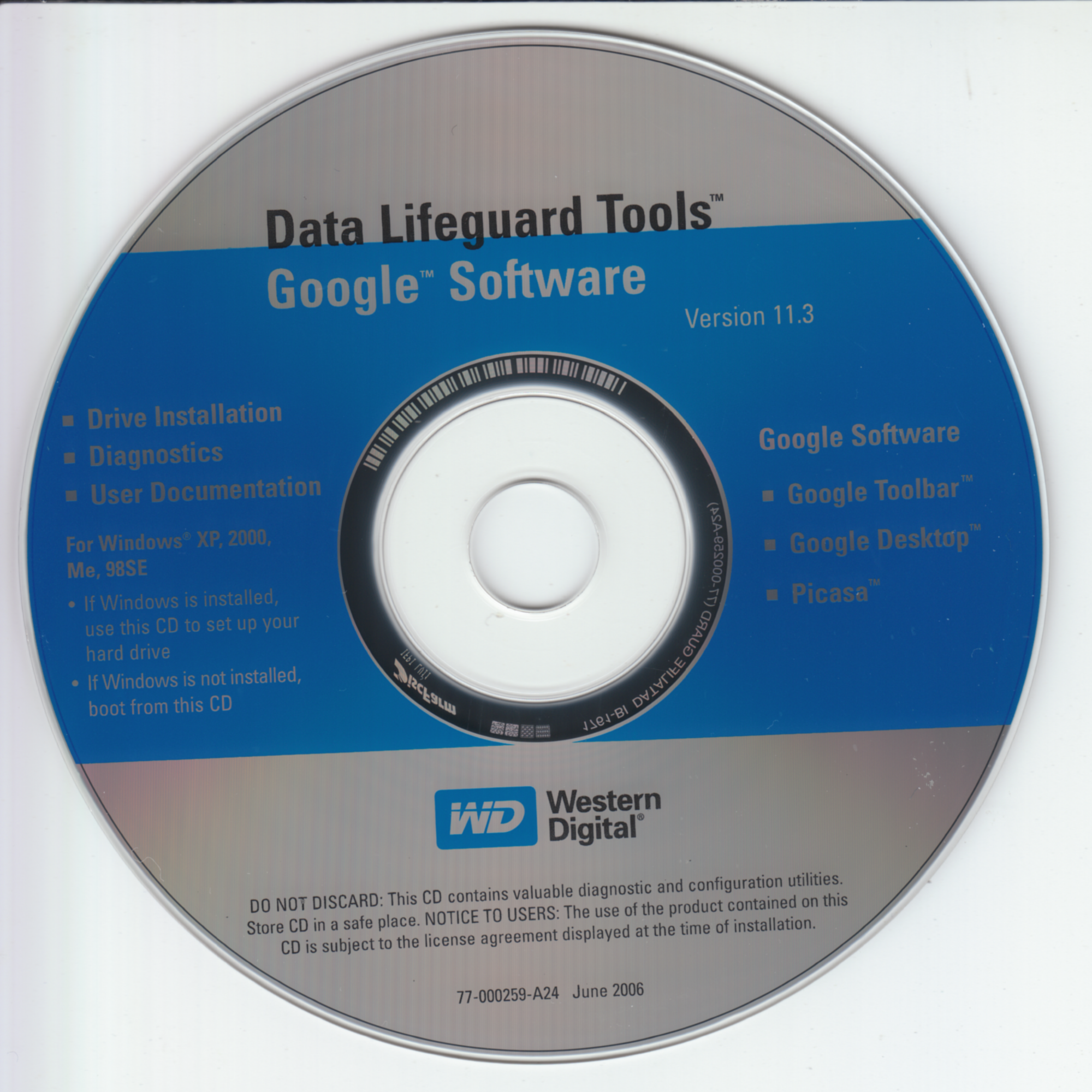 WD Data Lifeguard Tools v11.3 (77-000259-A24)