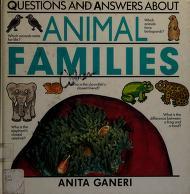 Cover of: Animal families | Anita Ganeri