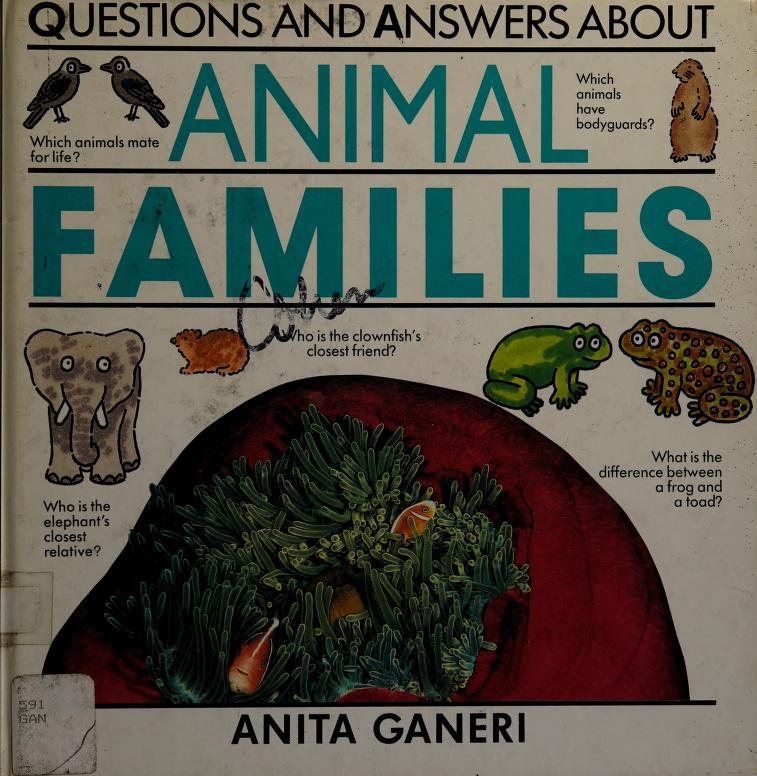 Animal families by Anita Ganeri