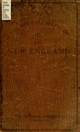 Cover of: The Official maps of New England. by Compiled from United States surveys, official state surveys, and original sources, L. V. Crocker, topographer.