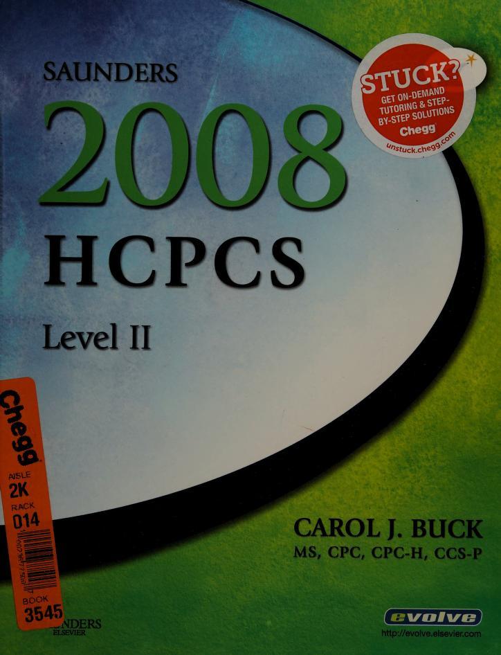 Saunders 2008 HCPCS Level II by Carol J. Buck